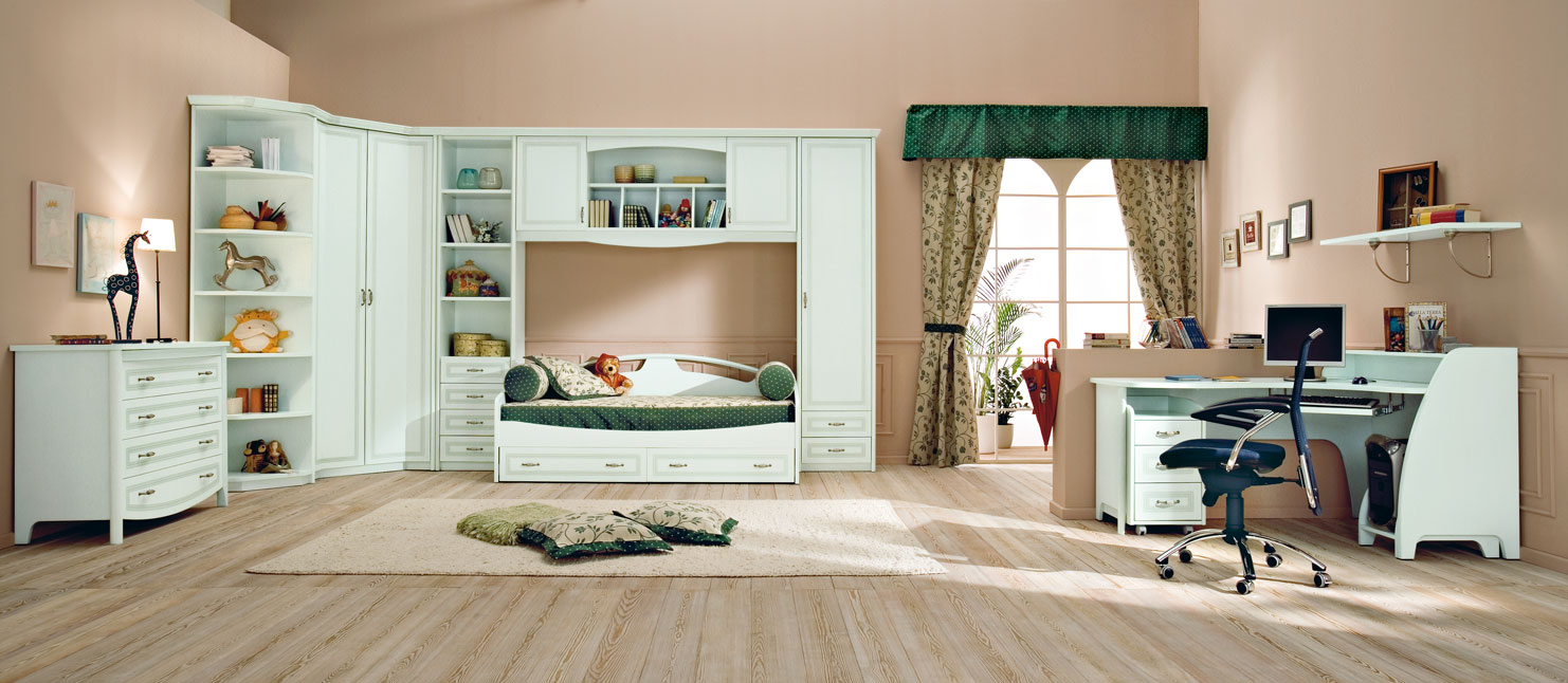 Large Kids Bedroom Furniture Placement