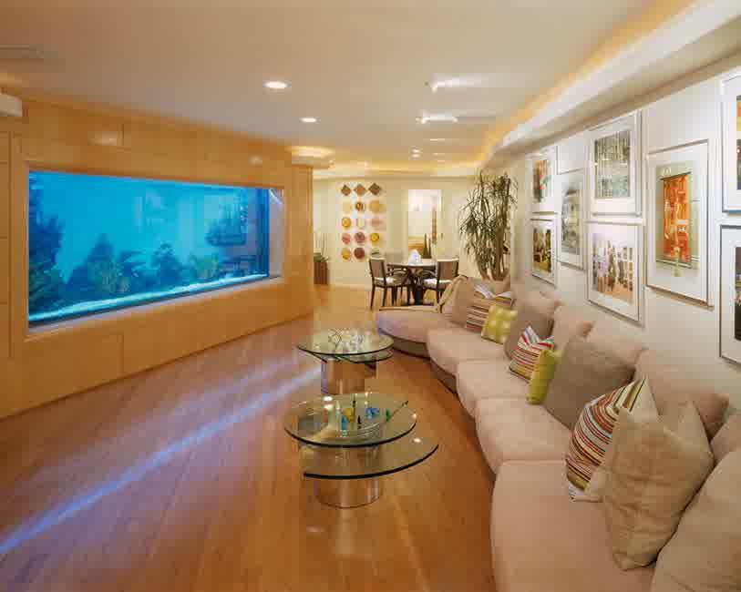 Luxury Aquarium In Living Room (View 4 of 21)