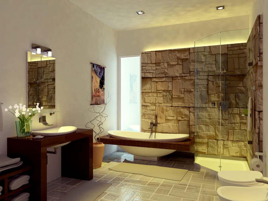 Luxury Beach Themed Bathroom (Image 5 of 10)