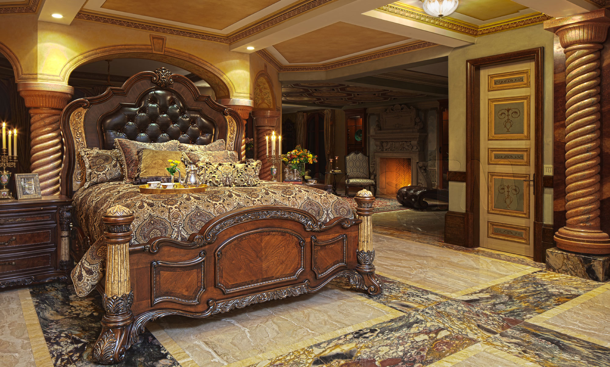 Luxury Bedroom By Michael Amini (Image 4 Of 10)