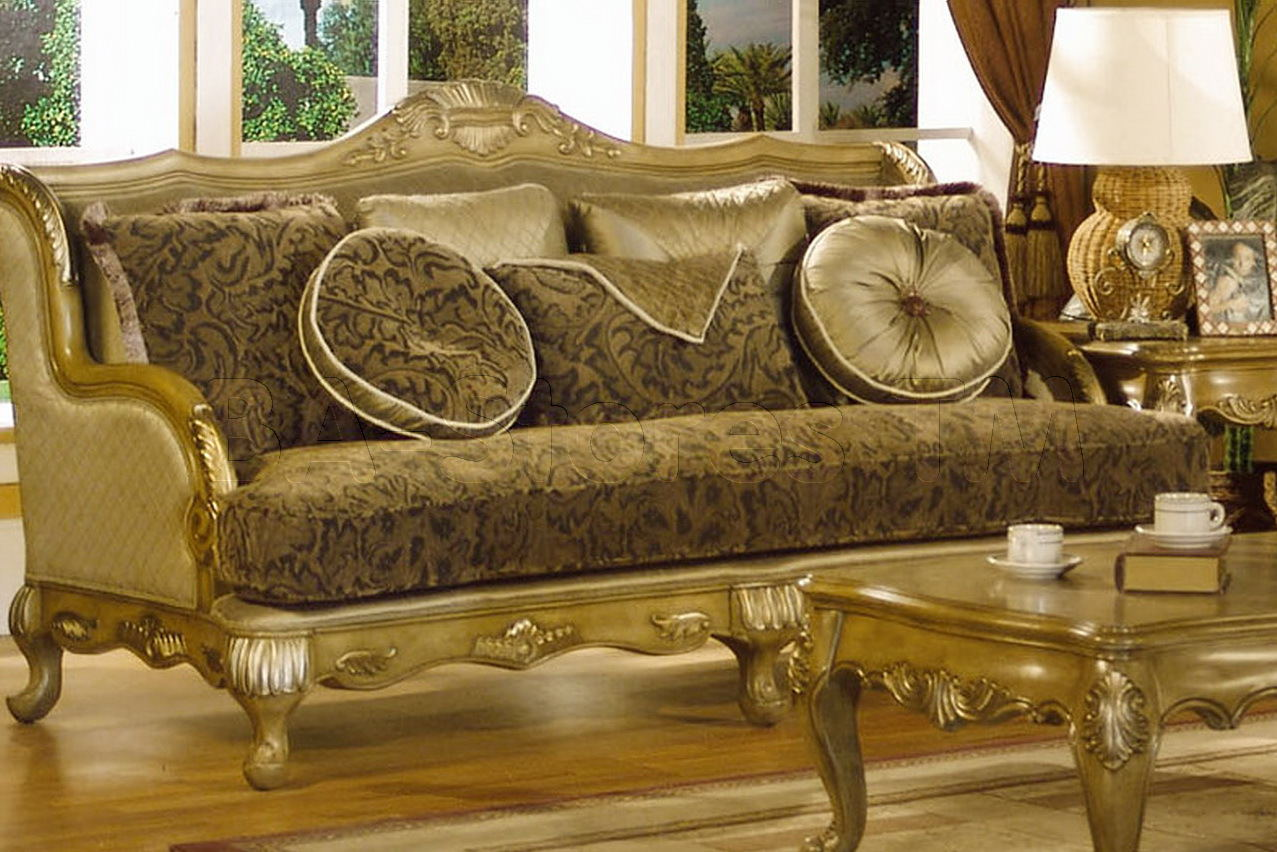 Luxury Gold Design French Living Room Furniture
