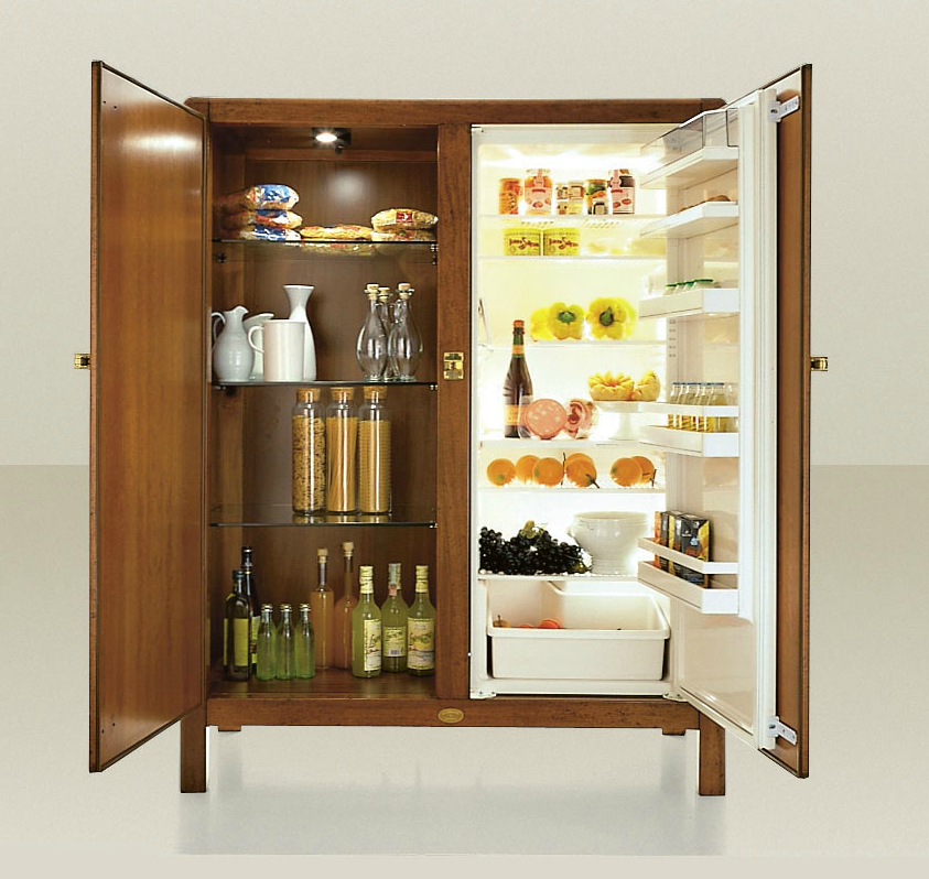 Meneghini Wooden Fridge-Freezers