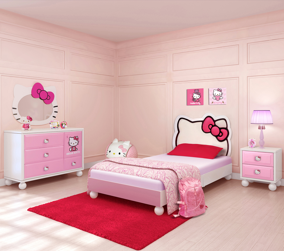 Minimalist Hello Kitty Teen Bedroom Decorating Ideas (View 1 of 10)