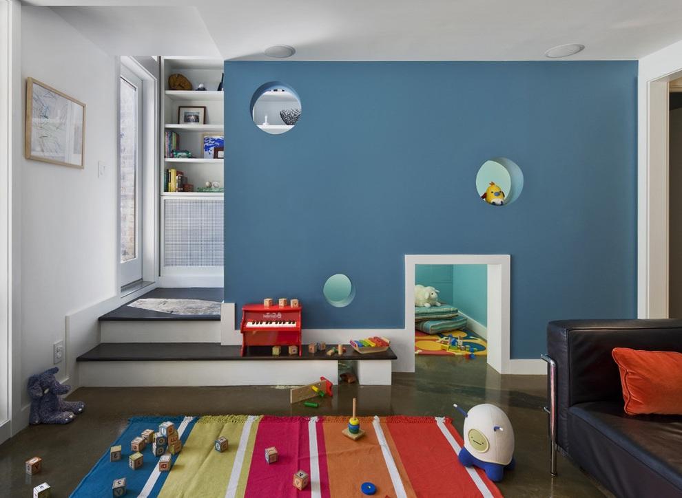 Minimalist Kids Playroom Furniture Decor
