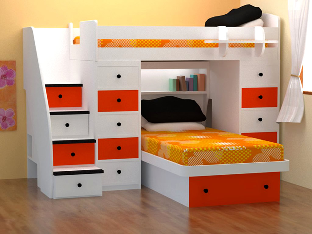 Modern Bedroom for Twin Girls Decoration Sets and Furniture