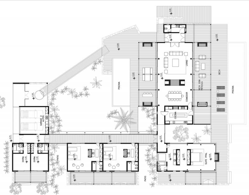 modern house plan photo 9 of 10 - Waterfront House Plans