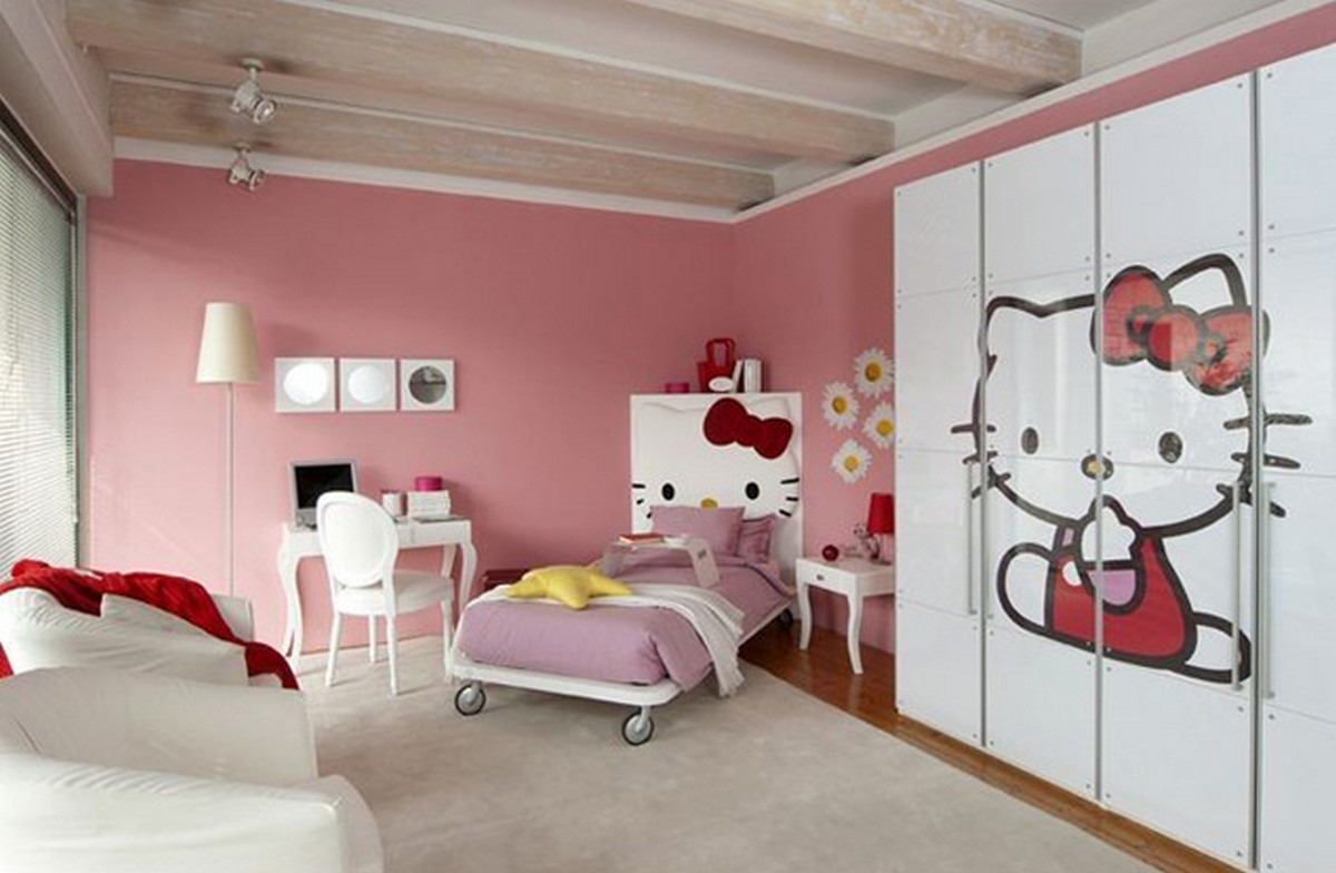 Modern Kids Bedroom Design With Hello Kitty (View 2 of 10)