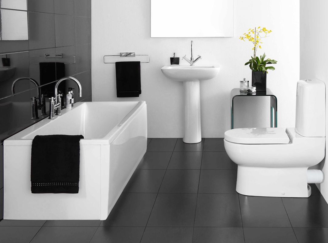 Black White And Grey Bathroom