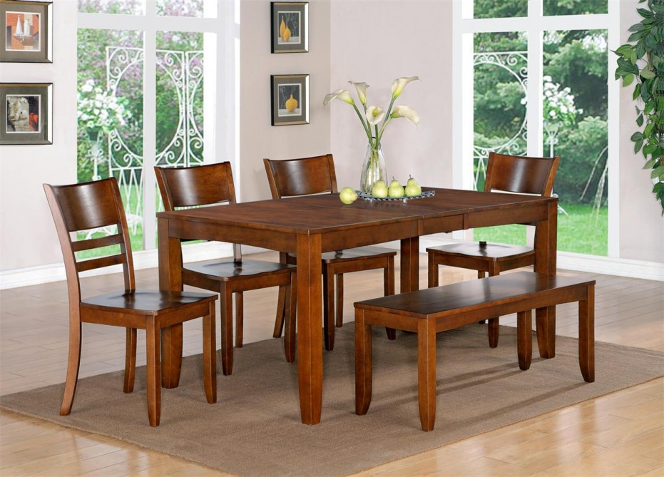 Dining table designs in wood and glass custom home design for Contemporary dining table decor