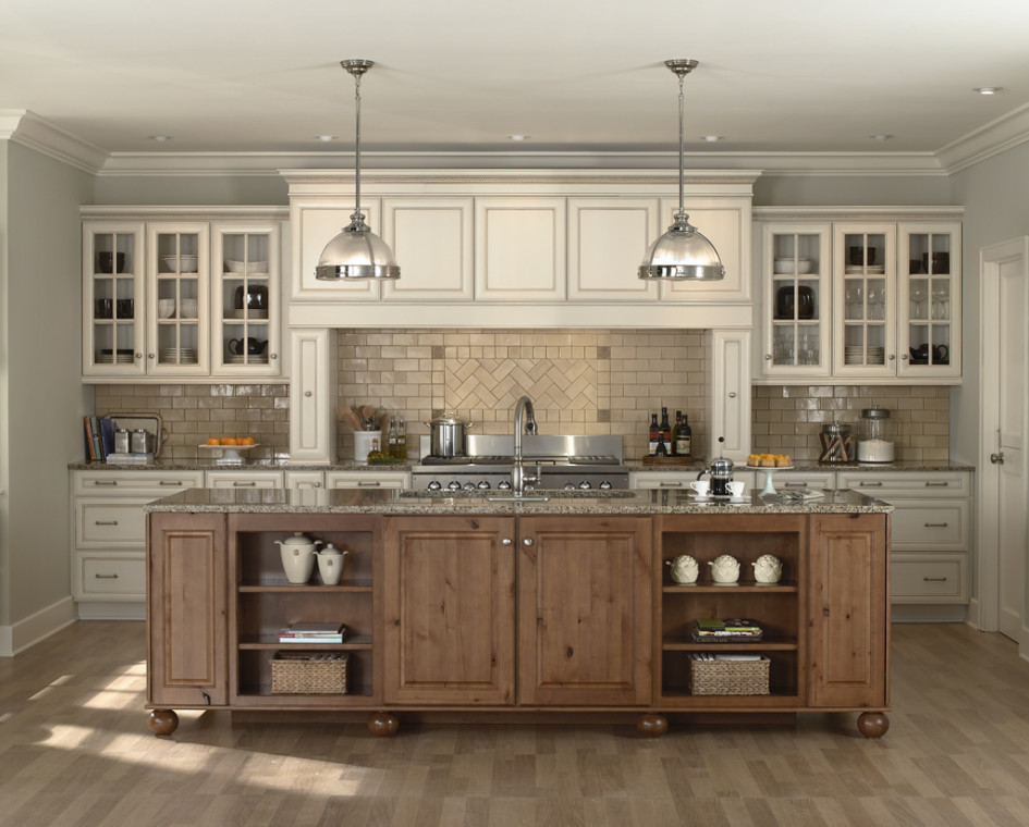 Natural Oak Victorian Kitchen Decoration (Image 9 Of 18)