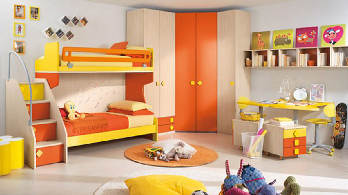 Orange Kids Bedroom Design (View 9 of 10)