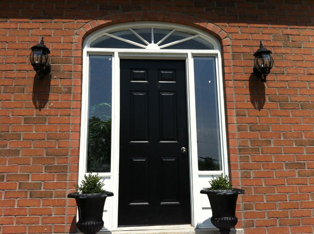 Painting A Steel Door Black Door (View 9 of 10)