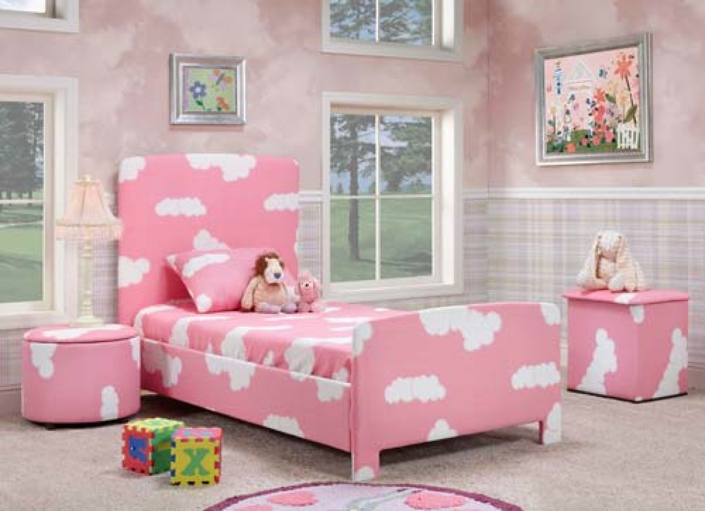 Pink Bedrooms For Girls In Low Budget (Image 6 of 10)