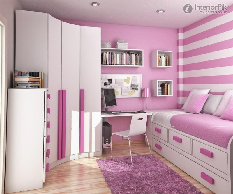 Pink Girl Bedroom Children Minimalist 2014