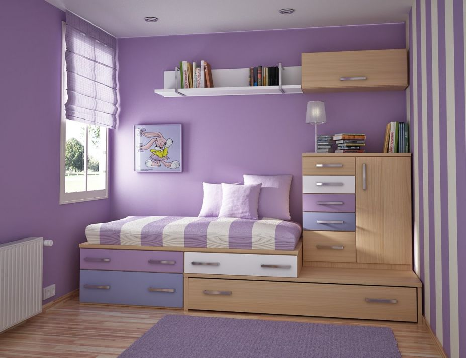 Purple Bedrooms For Girls In Low Budget (Image 7 of 10)