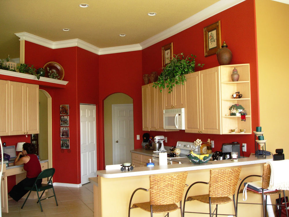 Red Recommended Kitchen Paint