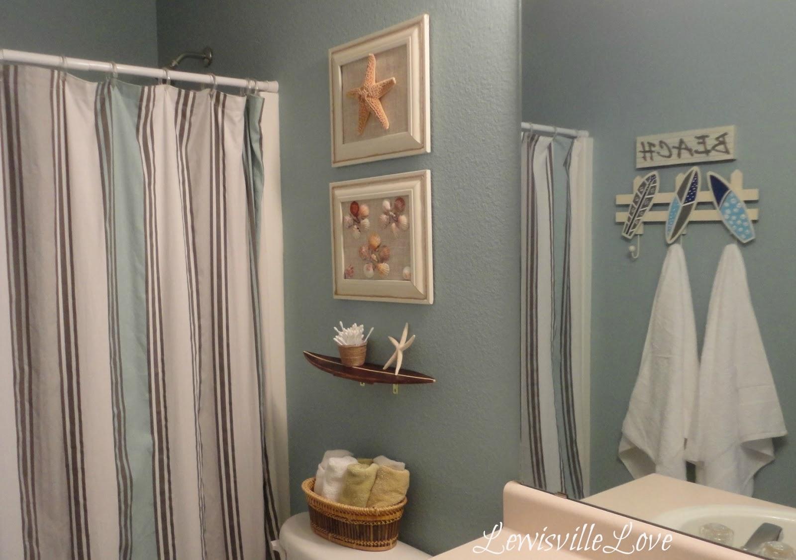 Rustic beach themed bathroom - Relaxing Beach Themed Bathroom Lewisville Love Design Image 7 Of 10