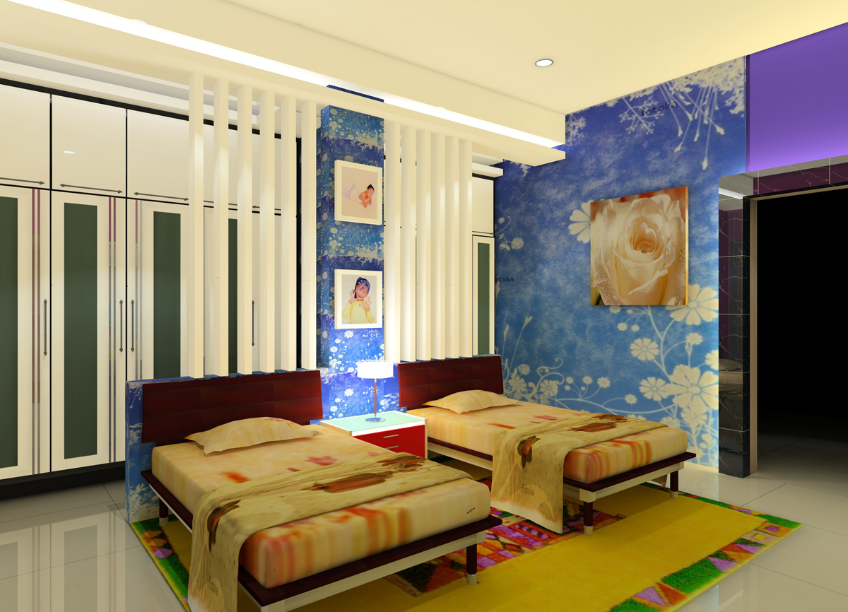 Relaxing Bedroom for Twin Girls Decoration Sets and Furniture