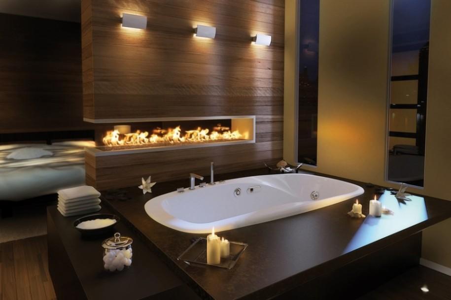 Romantic bathroom decorating idea