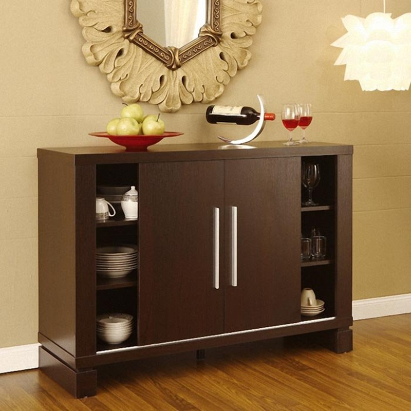 Serrano Dining Buffet Cabinet Serving Station Image 9 Of 10