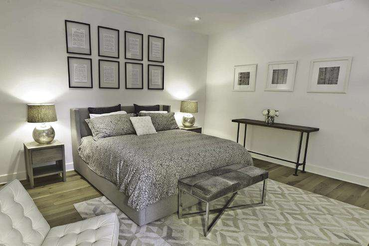 Silver Bedding Contemporary (Image 7 of 10)
