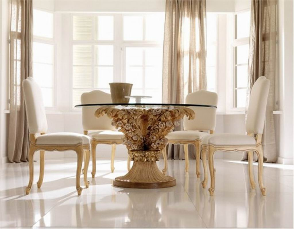 Simple And Elegant Dining Room Furniture Sets (View 9 of 18)