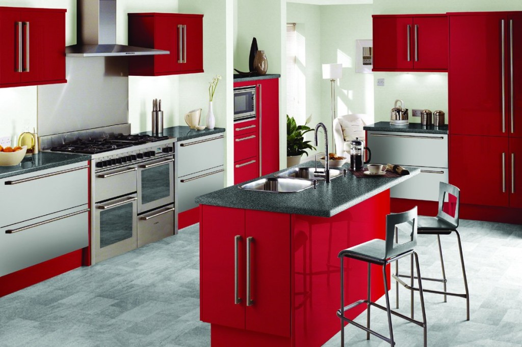 Simple Red Kitchen Ideas (View 8 of 10)