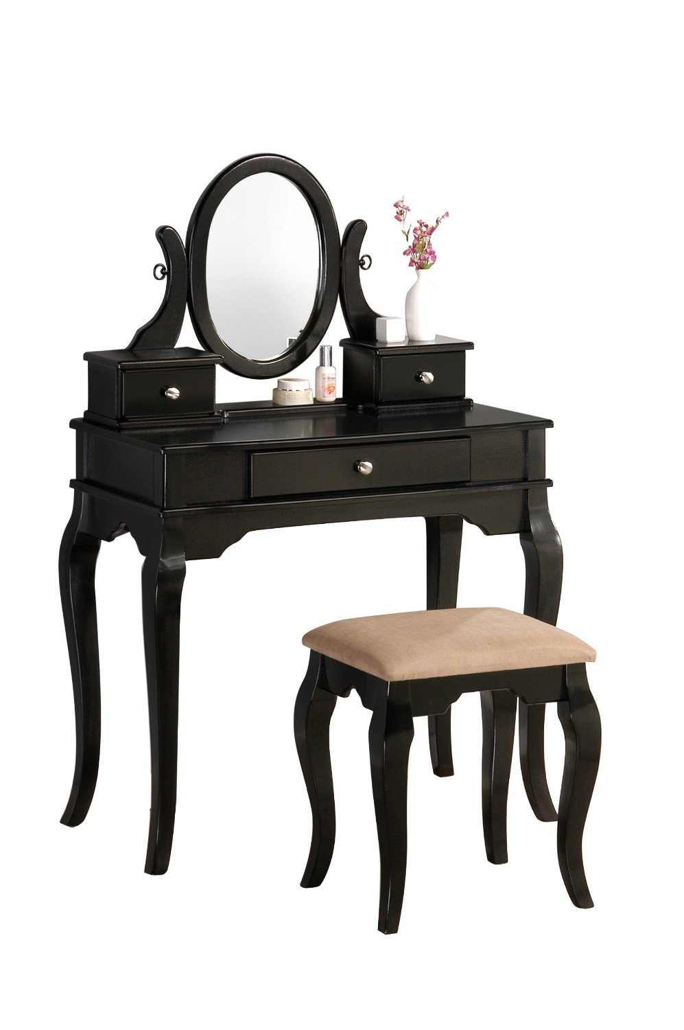 Small Black Vanities for Bedroom