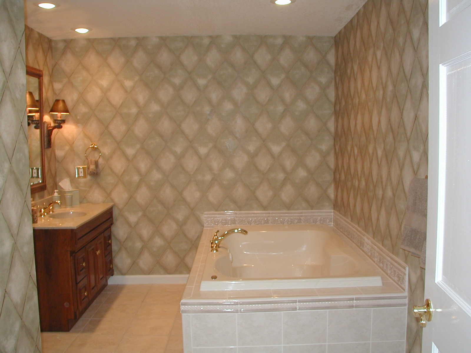 Square White Mosaic Bathroom Floor Tile Ideas (View 1 of 10)