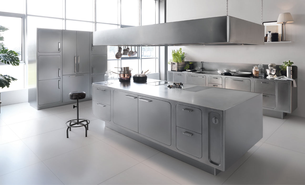 Stainless Steel Basic Kitchen Design (View 3 of 16)