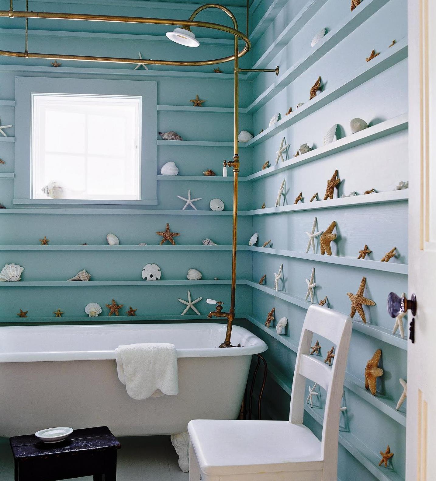 Starfish Figure Beach Themed Bathroom (Image 8 of 10)
