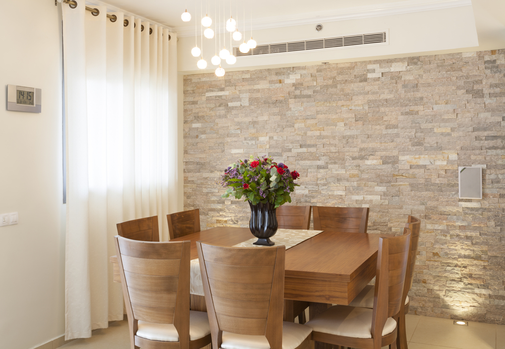 Stone Wall Dining Room (Image 8 Of 10)