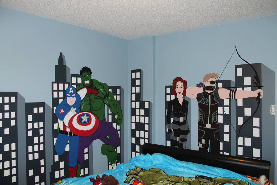 Super Avenger Cartoon Bedding (View 8 of 10)