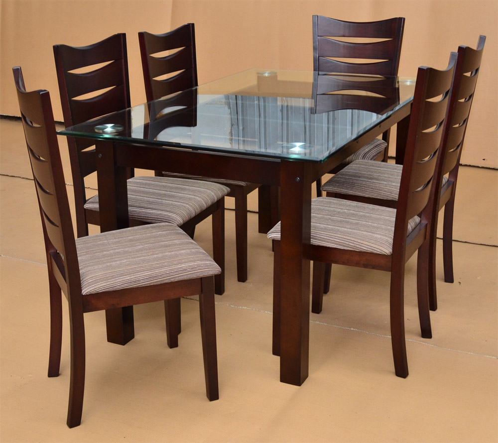 Dining table designs in wood and glass custom home design for Wooden dining table and chairs