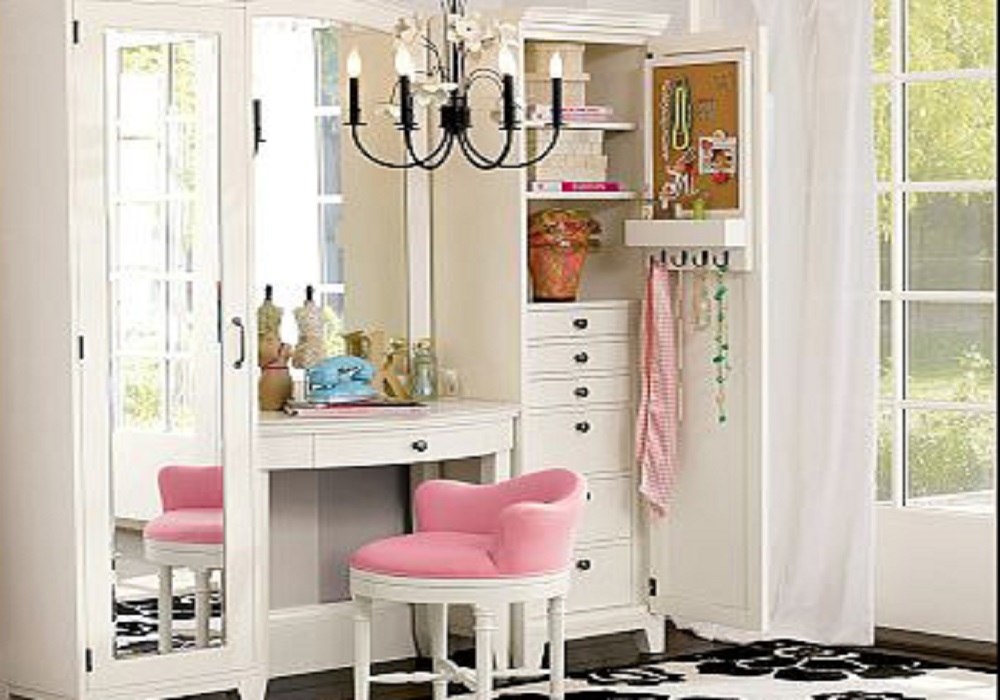 Bedroom Style For Girls With Dressing Room Custom Home