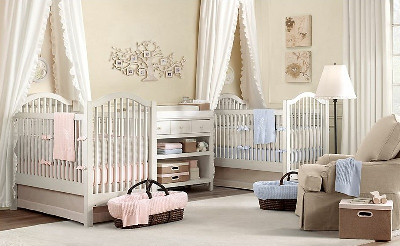 Twin Baby Nursery Room Decoration (Image 9 of 10)