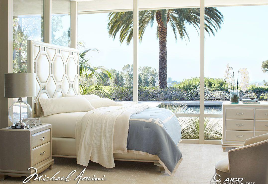 Unique Bedroom by Michael Amini