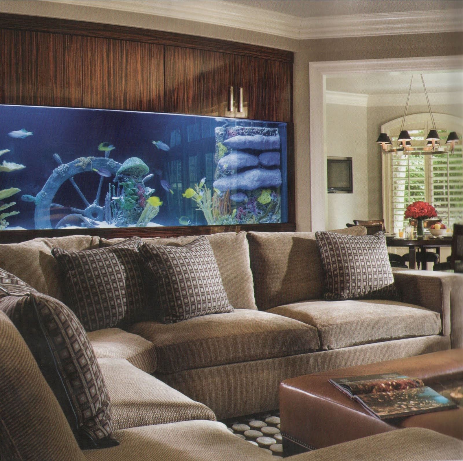 Vintage Aquarium In Living Room