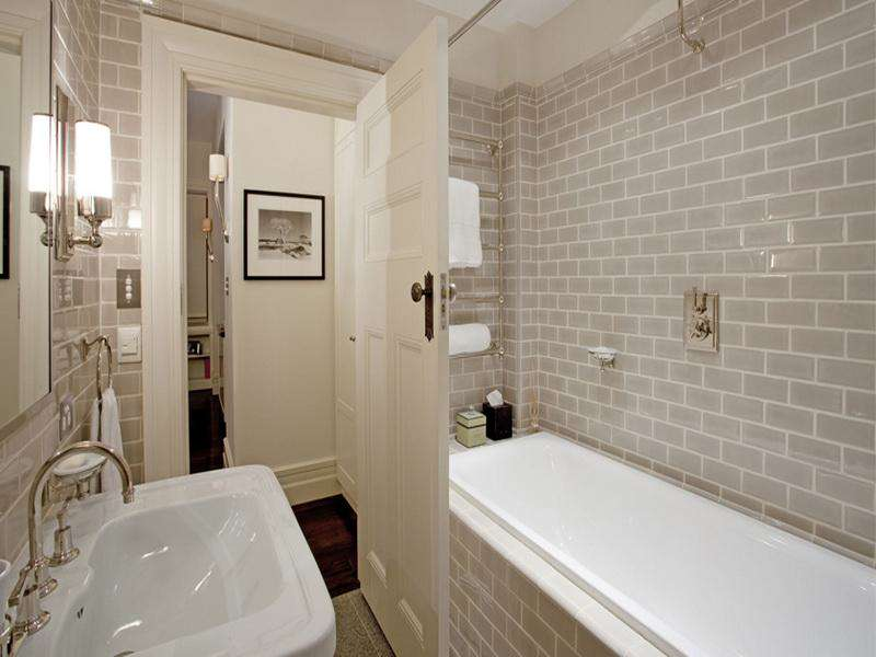 Vintage White DIY Bathroom Tile Wall