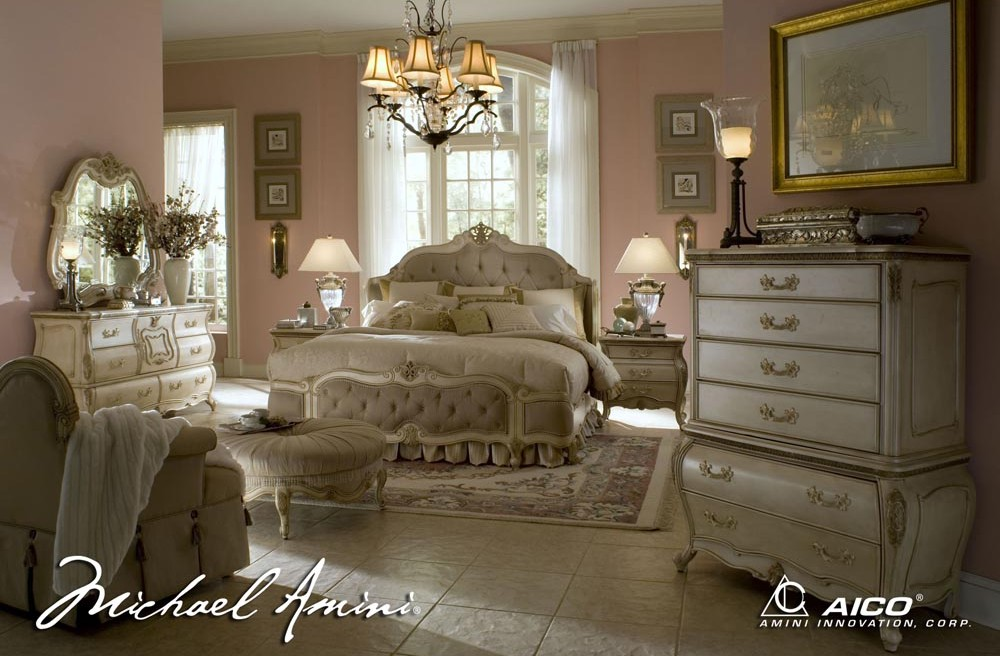 White Bedroom by Michael Amini