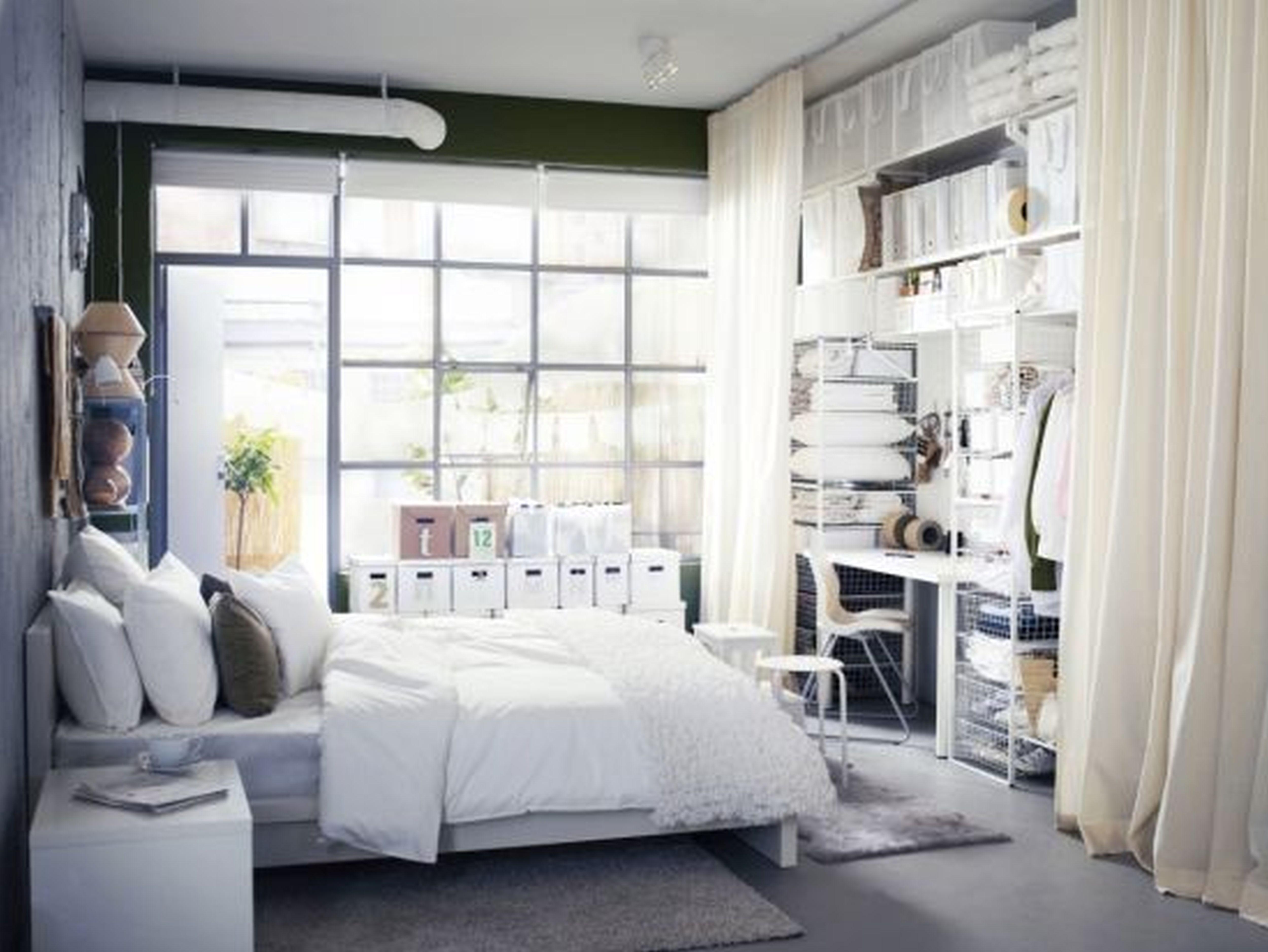 White bedroom IKEA