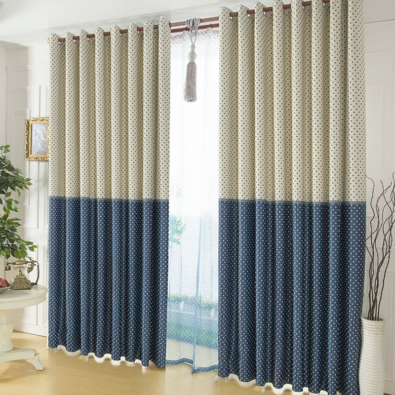 Window Curtain With Polka Dots (Image 10 of 10)