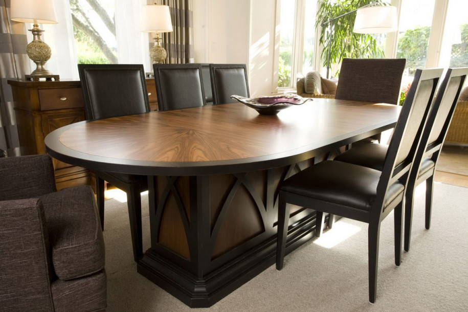 Dining table designs in wood and glass custom home design for Dining room table decor
