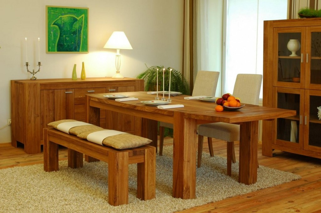 breakfast table with bench