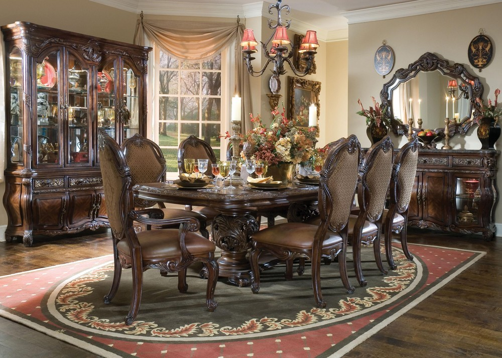 Formal dining room sets that you should try custom home for Formal dining table centerpiece