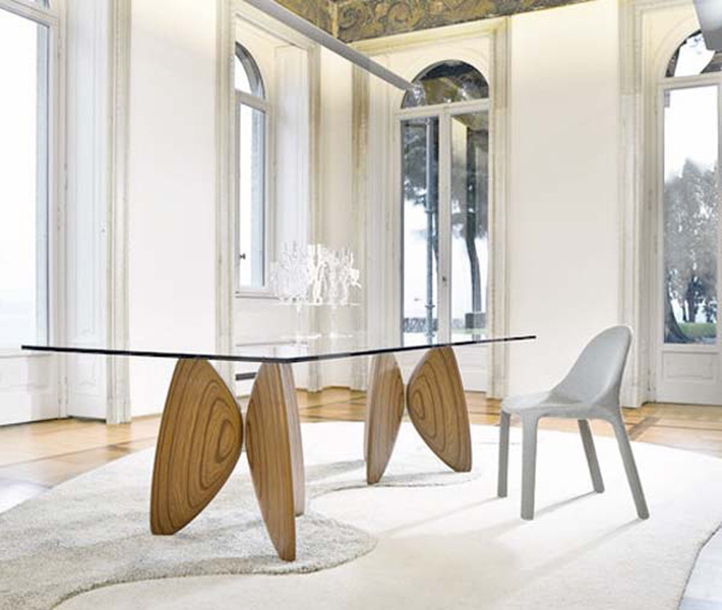 Glass Wood Dining Table Combination (View 8 of 19)