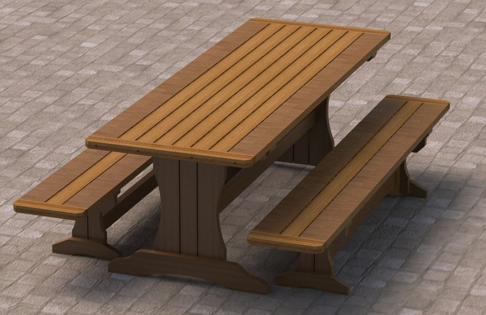 Picnic And Bench Table (Image 5 of 10)