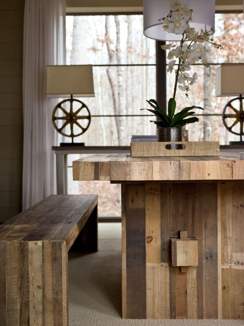 Picnic Bench Style Dining Tables (Image 7 of 10)