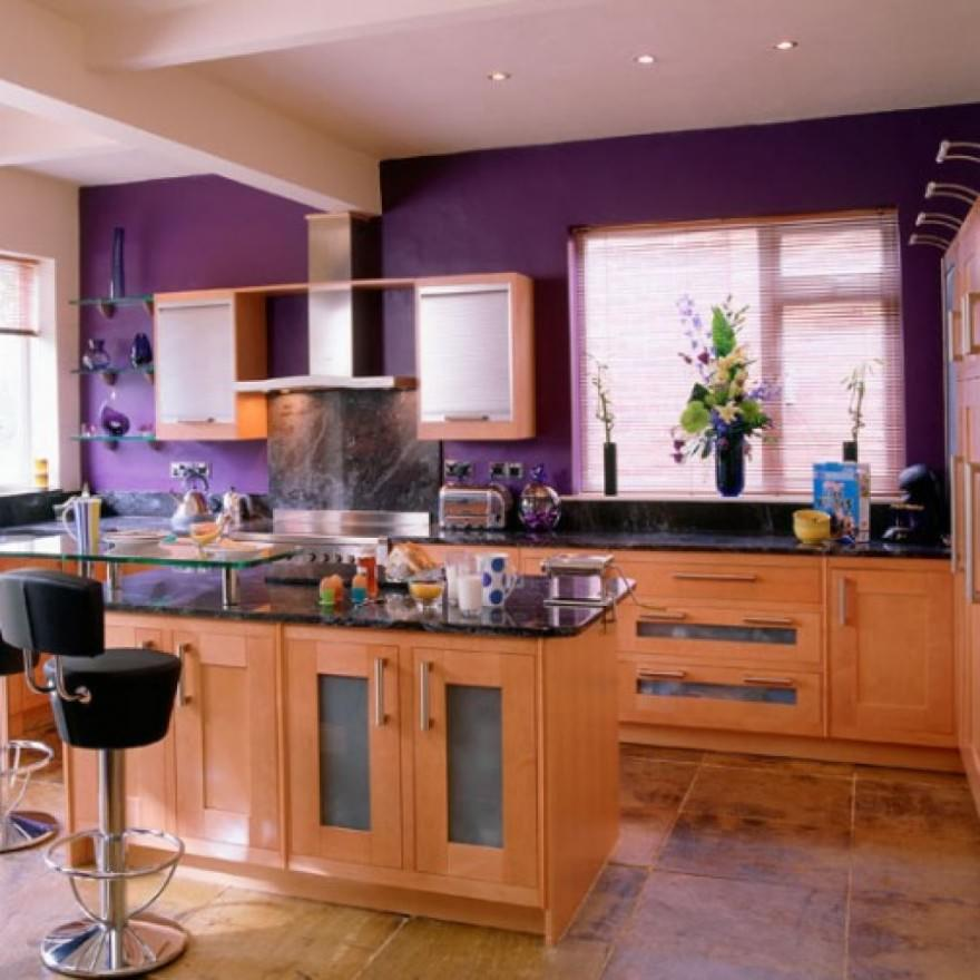 Purple Recommended Kitchen Paint
