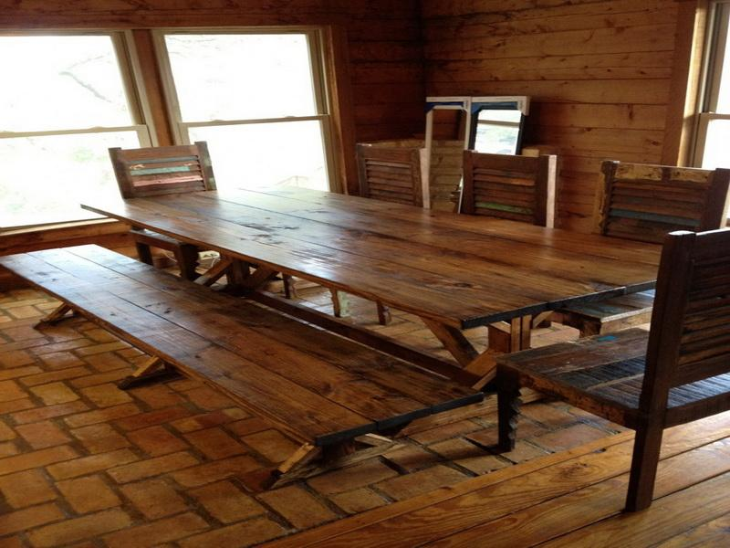 Rustic Wood Dining Tables (Image 10 of 11)